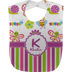 Butterflies & Stripes Baby Bib (Personalized)