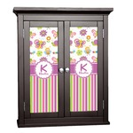 Butterflies & Stripes Cabinet Decal - Custom Size (Personalized)
