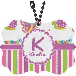 Butterflies & Stripes Rear View Mirror Charm (Personalized)
