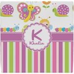 Butterflies & Stripes Ceramic Tile Hot Pad (Personalized)