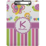 Butterflies & Stripes Clipboard (Personalized)
