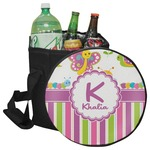 Butterflies & Stripes Collapsible Cooler & Seat (Personalized)