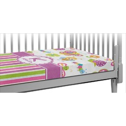 Butterflies & Stripes Crib Fitted Sheet (Personalized)
