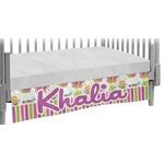 Butterflies & Stripes Crib Skirt (Personalized)
