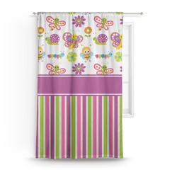 Butterflies & Stripes Curtain (Personalized)