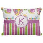 "Butterflies & Stripes Decorative Baby Pillowcase - 16""x12"" (Personalized)"