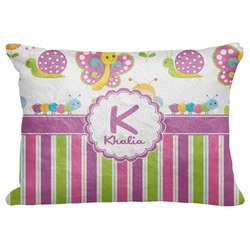 "Butterflies & Stripes Decorative Baby Pillowcase - 16""x12"" (Personalized)"