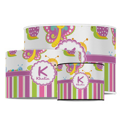 Butterflies & Stripes Drum Lamp Shade (Personalized)