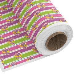 Butterflies & Stripes Custom Fabric - Spun Polyester Poplin (Personalized)
