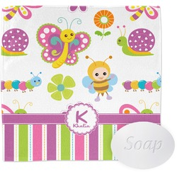 Butterflies & Stripes Wash Cloth (Personalized)