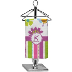 Butterflies & Stripes Finger Tip Towel - Full Print (Personalized)