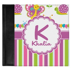 Butterflies & Stripes Genuine Leather Baby Memory Book (Personalized)