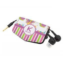 Butterflies & Stripes Genuine Leather Cord Wrap (Personalized)