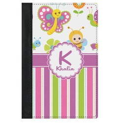 Butterflies & Stripes Genuine Leather Passport Cover (Personalized)