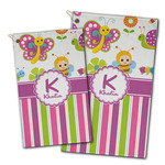 Butterflies & Stripes Golf Towel - Full Print w/ Name and Initial