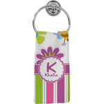 Butterflies & Stripes Hand Towel - Full Print (Personalized)
