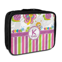 Butterflies & Stripes Insulated Lunch Bag (Personalized)