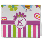 Butterflies & Stripes Kitchen Towel - Full Print (Personalized)