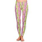 Butterflies & Stripes Ladies Leggings (Personalized)
