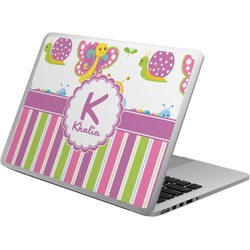 Butterflies & Stripes Laptop Skin - Custom Sized (Personalized)