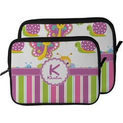 Butterflies & Stripes Laptop Sleeve / Case (Personalized)