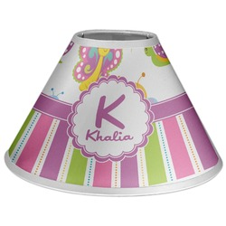 Butterflies & Stripes Coolie Lamp Shade (Personalized)