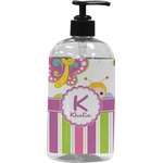 Butterflies & Stripes Plastic Soap / Lotion Dispenser (Personalized)