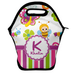 Butterflies & Stripes Lunch Bag w/ Name and Initial