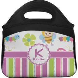 Butterflies & Stripes Lunch Tote (Personalized)