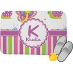 Butterflies & Stripes Memory Foam Bath Mat (Personalized)