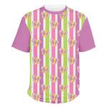 Butterflies & Stripes Men's Crew T-Shirt (Personalized)
