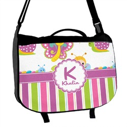 Butterflies & Stripes Messenger Bag (Personalized)