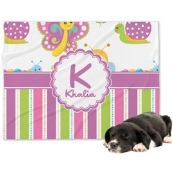Butterflies & Stripes Minky Dog Blanket (Personalized)