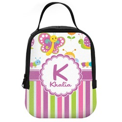 Butterflies & Stripes Neoprene Lunch Tote (Personalized)