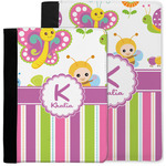 Butterflies & Stripes Notebook Padfolio w/ Name and Initial