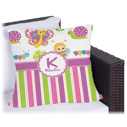 "Butterflies & Stripes Outdoor Pillow - 20"" (Personalized)"