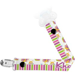 Butterflies & Stripes Pacifier Clips (Personalized)