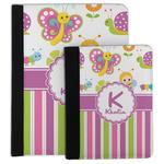 Butterflies & Stripes Padfolio Clipboard (Personalized)