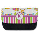 Butterflies & Stripes Canvas Pencil Case w/ Name and Initial