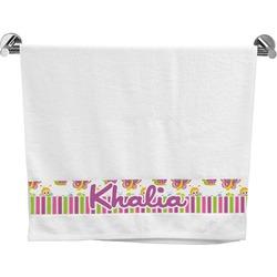 Butterflies & Stripes Bath Towel (Personalized)