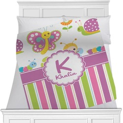 Butterflies & Stripes Blanket (Personalized)
