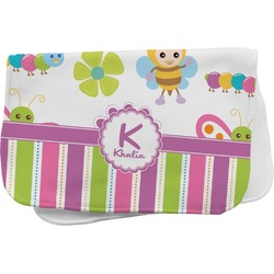 Butterflies & Stripes Burp Cloth (Personalized)