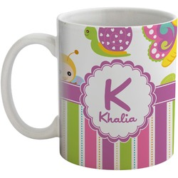 Butterflies & Stripes Coffee Mug (Personalized)