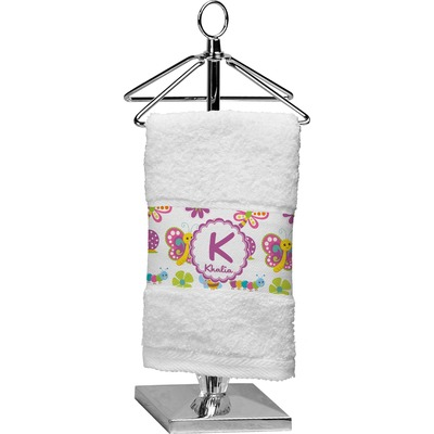 Butterflies & Stripes Finger Tip Towel (Personalized)