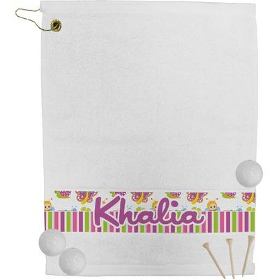 Butterflies & Stripes Golf Bag Towel (Personalized)