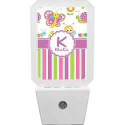 Butterflies & Stripes Night Light (Personalized)