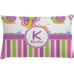 Butterflies & Stripes Pillow Case (Personalized)