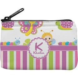 Butterflies & Stripes Rectangular Coin Purse (Personalized)
