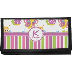 Butterflies & Stripes Canvas Checkbook Cover (Personalized)