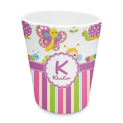 Butterflies & Stripes Plastic Tumbler 6oz (Personalized)